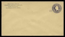 U.S. Scott # U 469/13, UPSS 2983/20, 1920-1 2c (Type 4 Sch) on 3c (U437a) Washington, dark violet on amber, Die 1 - Mint (See Warranty)