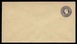 U.S. Scott # U 469b/13, UPSS 2991/19, 1920-1 2c (Type 4 Sch) on 3c (U437c) Washington, dark violet on amber, Die 6 - Mint (See Warranty)