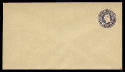 U.S. Scott # U 469b/13, UPSS 2991/20, 1920-1 2c (Type 4 Sch) on 3c (U437c) Washington, dark violet on amber, Die 6 - Mint (See Warranty)