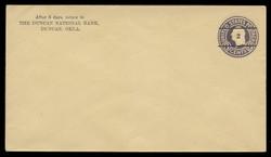 U.S. Scott # U 476/13, UPSS 3018/20, 1920-1 2c (Type 5 Sch) on 3c (U437a) Washington, dark violet on amber, Die 1 - Mint (See Warranty)
