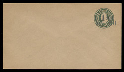 U.S. Scott # U499/10, UPSS 3163/UNWMKD, 1925 1 1/2c (Type 8 Sch) on 1c (U424) Franklin, green on manila, Die 1 - Mint (See Warranty)