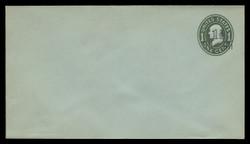 U.S. Scott # U513a/13, UPSS 3204/19, 1925 1 1/2c (Type 9 Sch) on 1c (U403c) Franklin, green on blue, Die 4 - Mint (See Warranty)