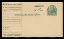 UX41, Card for Railroad Use, Printer's Rule Separations, SINGLE CARD