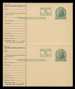 UX41, Card for Railroad Use, Printer's Rule Separations, PAIR