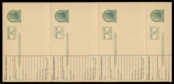 UX41, Card for Railroad Use, Printer's Rule Separations, STRIP OF 4