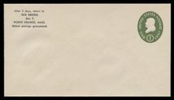 U.S. Scott # U 532a/10, UPSS # 3282a/43, 1950 1c Franklin, Die 2 - Mint (See Warranty)