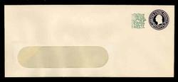 U.S. Scott # U 539b/21-WINDOW, UPSS # 3450/41 1958 3c (U436f) + 1c Washington, Die 9 - Mint (See Warranty)