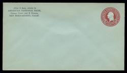 U.S. Scott # U 432h/13, UPSS #2449/39 1915-32 2c Washington, carmine on blue, Die 8 - Mint (See Warranty)
