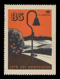 Associated Oil Company Poster Stamps of 1938-9 - # 85, El Camino Real