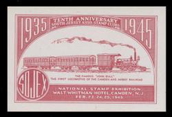 SOJEX 1945 (10th) Stamp Show, John Bull - Camden-Amboy Railroad