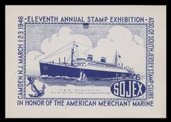 SOJEX 1946 (11th) Stamp Show, T.S.S. Manhattan, American Mechant Marine