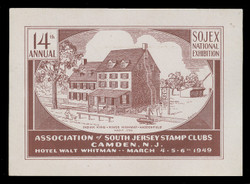SOJEX 1949 (14th) Stamp Show, Indian King - King's Highway - Haddonfield