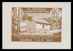 SOJEX 1952 (17th) Stamp Show, Old Fulling Mill