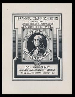 SOJEX 1953 (18th) Stamp Show, Jenkins' Camden Dispatch