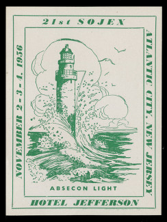 SOJEX 1956 (21st) Stamp Show, Absecon Lighthouse