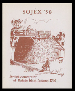 SOJEX 1958 (23rd) Stamp Show, Batsto Blast Furnace