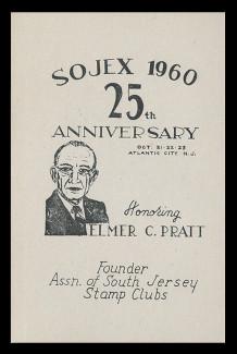 SOJEX 1960 (25th) Stamp Show, Elmer C. Pratt