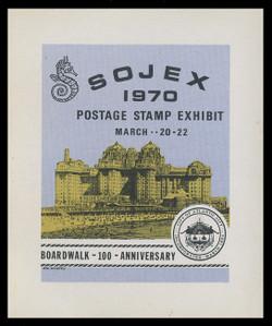 SOJEX 1970 (35th) Stamp Show, Atlantic City Boardwak