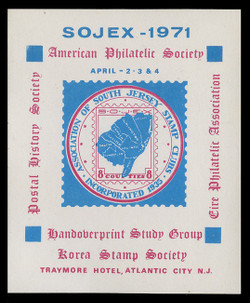 SOJEX 1971 (36th) Stamp Show, APS & Other Societies
