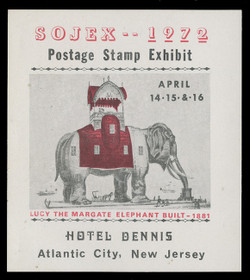 SOJEX 1972 (37th) Stamp Show, Lucy the Margate Elephant