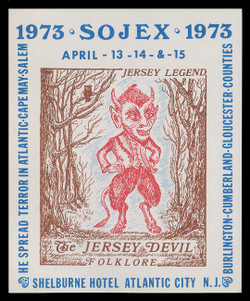 SOJEX 1973 (38th) Stamp Show, The Jersey Devil