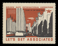 Associated Oil Company Poster Stamps of 1938-9 - #108, Hall of the Seven Seas