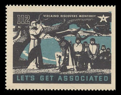 Associated Oil Company Poster Stamps of 1938-9 - #112, Vizcaino Discovers Monterey