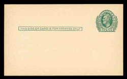 U.S. Scott # UX  26, 1913 1c Abraham Lincoln, green on cream - Mint Postal Card