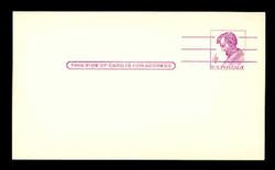 "U.S. Scott # UX  48a/UPSS #S66C, 1966 4c Abraham Lincoln, Precancelled, ""Tagged"" with Luminescent Ink - Mint Postal Card"