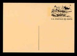 U.S. Scott # UX  63, 1972 6c Tourism - Gloucester, Massachusetts - Mint Postal Card