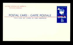 U.S. Scott # UX  54, 1967 8c Map of the United States - Mint Postal Card