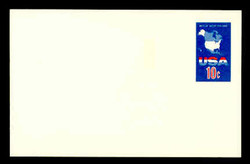 U.S. Scott # UX  59, 1971 10c Map of the United States - Mint Postal Card