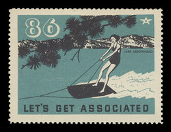 Associated Oil Company Poster Stamps of 1938-9 - # 86, Lake Arrowhead