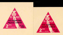 U.S. Scott # UX  44f, 1956 2c FIPEX Exhibition, rose pink shade - Mint Postal Card