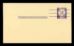 U.S. Scott # UX  46d/UPSS #S65, 1961 3c Statue of Liberty, Precancelled with 3 lines - Mint Postal Card