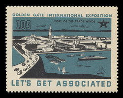 Associated Oil Company Poster Stamps of 1938-9 - #109, Port of the Trade Winds
