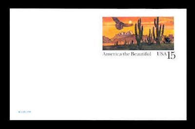 U S Scott Ux 127 1989 15c America The Beautiful Sonoran Desert Mint Postal Card