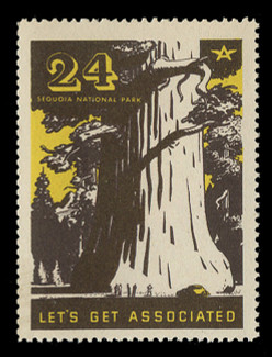 Associated Oil Company Poster Stamps of 1938-9 - # 24, Sequoia National Park