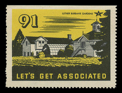 Associated Oil Company Poster Stamps of 1938-9 - # 91, Luther Burbank Gardens