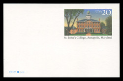 U.S. Scott # UX 262, 1996 20c St. John's College, Annapolis Maryland - Mint Postal Card