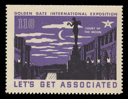 Associated Oil Company Poster Stamps of 1938-9 - #110, Court of the Moon