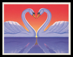 U.S. Scott # UX 279S, 1997 20c Love Swans - Mint Picture Postal Card Short Set of 4 (2202//2813)