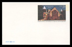 U.S. Scott # UX 263, 1996 20c Alexander Hall, Princeton University - Mint Postal Card, DULL PAPER