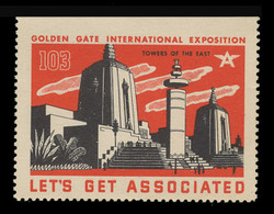 Associated Oil Company Poster Stamps of 1938-9 - #103, Towers of the East