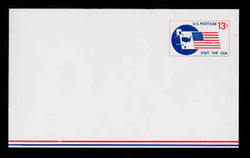 U.S. Scott # UXC  8 1967 13c Visit the U.S.A., Flag and Map - Mint Postal Card