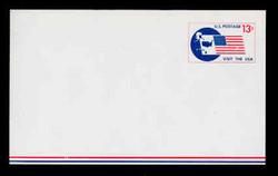 U.S. Scott # UXC  8 1967 13c Visit the U.S.A., Flag and Map - Mint Postal Card