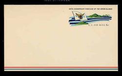 U.S. Scott # UXC  6 1967 6c Virgin Islands and Territorial Flag - Mint Postal Card