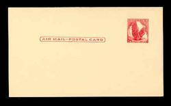 U.S. Scott # UXC  2 1958 5c Eagle, red on buff, no border - Mint Postal Card