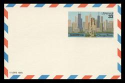 U.S. Scott # UXC 23, 1986 33c AMERIPEX '86, Chicago Illinois - Mint Postal Card