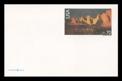 U.S. Scott # UXC 28, 1999 70c Badlands National Park, South Dakota - Mint Postal Card